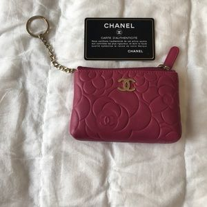 Chanel Quilted Coin Purse Key Chain